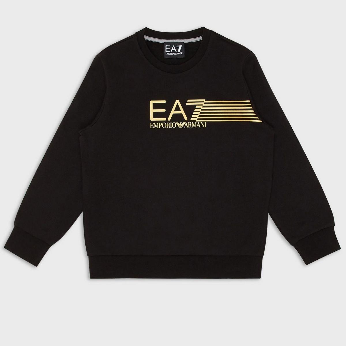 Felpa EA7 Stampa Logo Righe...