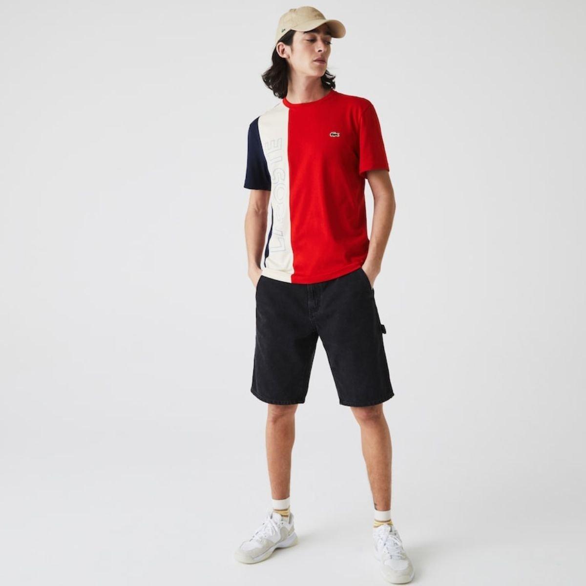 T-Shirt Lacoste Color Block...