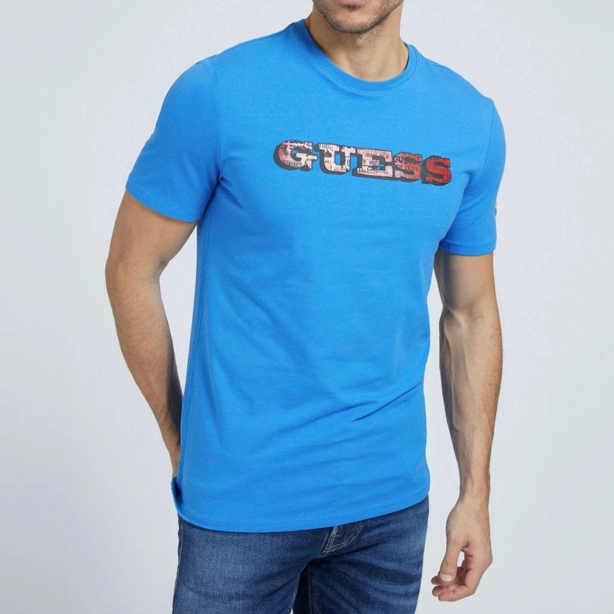 T-Shirt Guess Logo Frontale...
