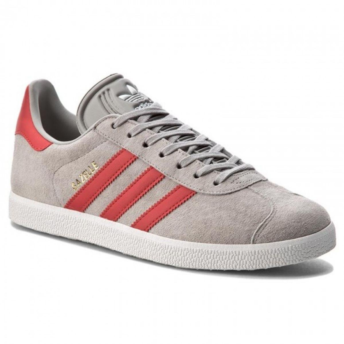 adidas gazelle grigio rosso