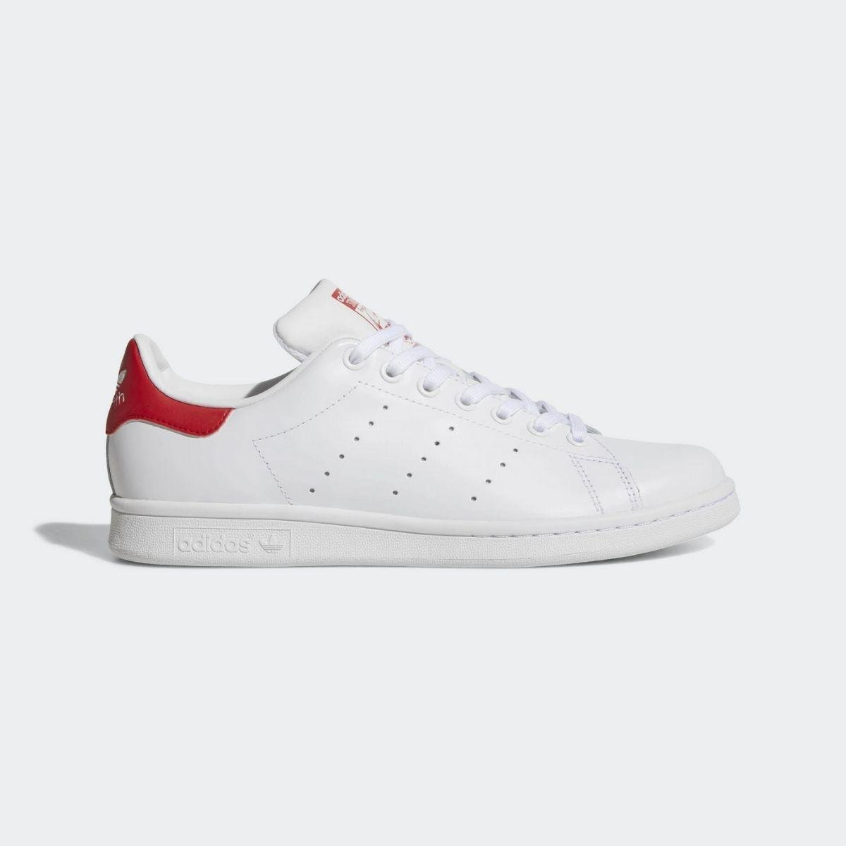 adidas stan smith bianco rosso